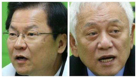 천정배 공동대표(왼쪽)와 김한길 의원