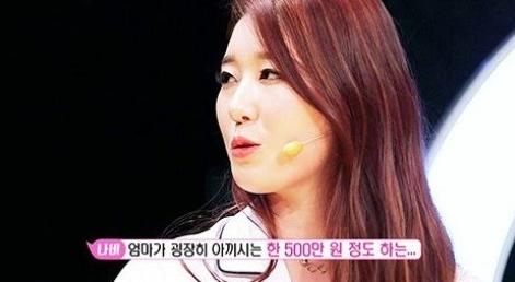 가수 나비. 사진 = SBS '힐링캠프' 방송화면 캡처