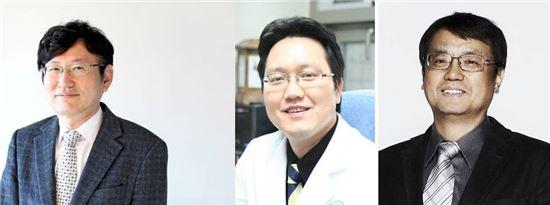 ▲조인호, 김한수, 이상훈 교수(왼쪽부터).[사진제공=이화여대의료원]