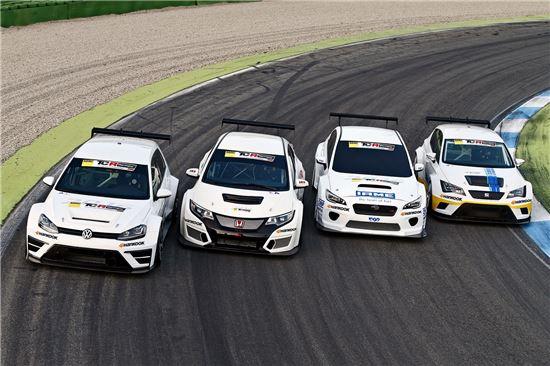 해외 TCR시리즈 대회 출전 차량에 공급된 한국타이어.