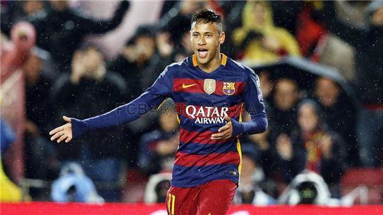 아스널과의 경기에서 첫 골을 넣은 네이마르. 사진=FC바르셀로나 공식 홈페이지