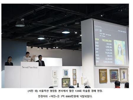 서울옥션, 올해 첫 메이저 경매 낙찰총액 84억원
