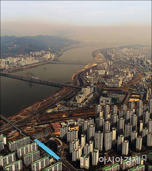 [포토]'서울, 미세먼지속으로~'