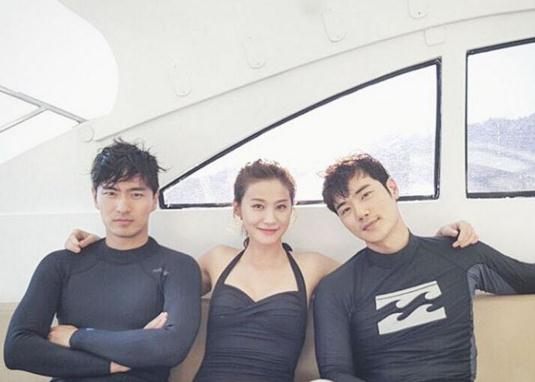 이진욱, 유인영, 김강우. 사진=유인영 인스타그램 캡처