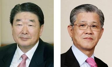 ▲구본준 부회장(왼쪽)과 최신원 회장