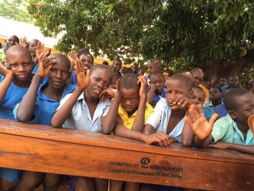 아프리카 우간다 나카야카 초등학교 학생들