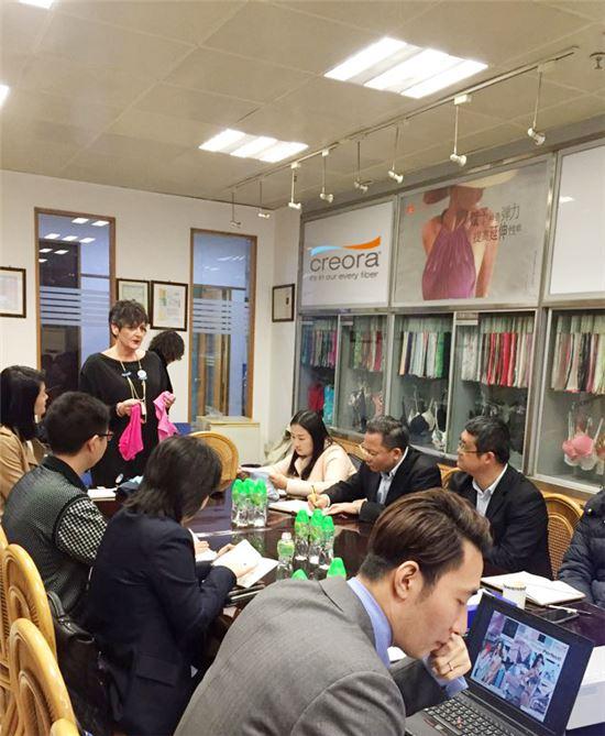 효성은 중국, 대만, 홍콩 3개국을 방문해 3월 7일부터 18일까지 크레오라 워크숍을 진행했다.
