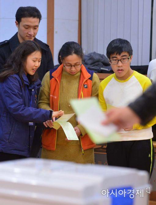[포토]발달장애 유권자 대상 모의체험투표