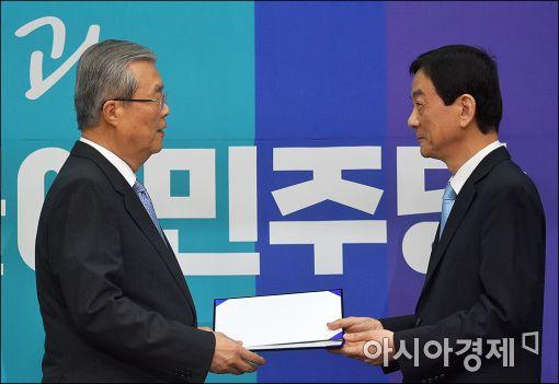 [포토]진영, 더불어민주당 공식 입당