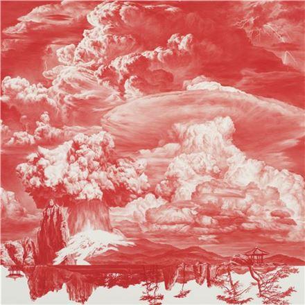 이세현 'Between Red-014OCT02', Oil on Linen, 150cm x 150cm