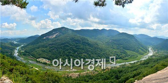 순창군 섬진강 장군목 전경