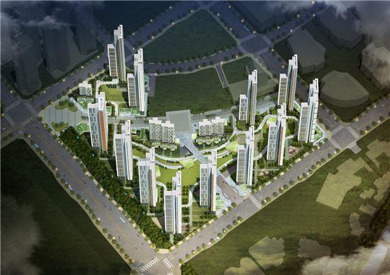 킨텍스 원시티 조감도(제공: GS건설)