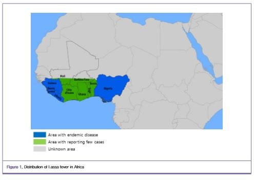 ▲라싸열이 서아프리카 지역에서 증가하고 있다. 우리나라도 안전지대는 아니다.[사진제공=질병관리본부]