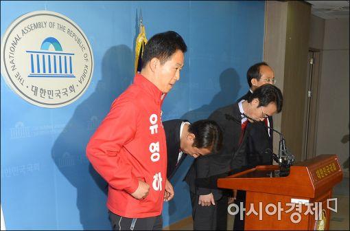 [포토]다급해진 친박 예비 후보들