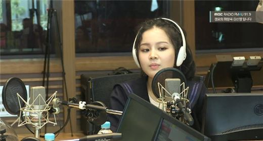 이하이. 사진=MBC FM4U '정오의 희망곡 김신영입니다' 보이는라디오 캡처