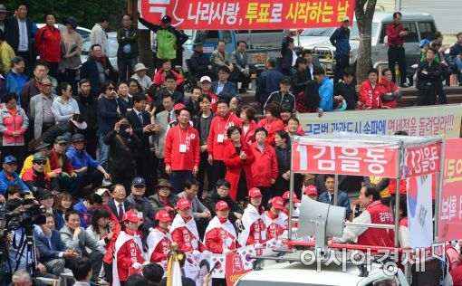 [포토]송파구 지원유세 나선 김무성 대표