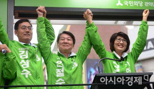 [포토]수도권 지원 유세 나선 안철수 대표