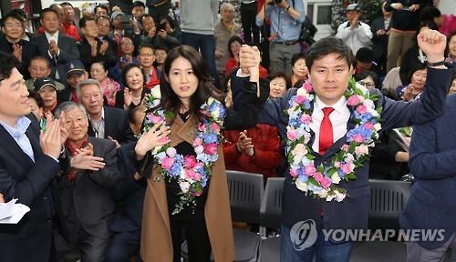 서울 중구성동을 당선된 지상욱 새누리당 후보. 사진=연합뉴스