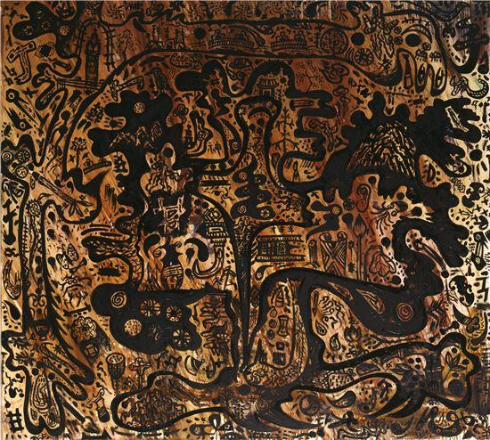 산과 용, 155*145cm,1986년