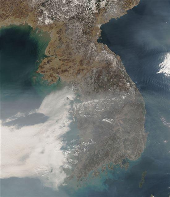 ▲우리나라가 나사와 함께 공기 오염 연구에 나선다.[사진제공=NASA]