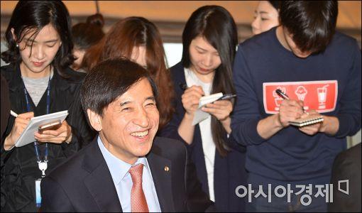 [포토]활짝 웃는 이주열 총재