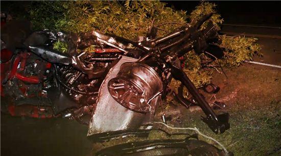 처참한 사고현장이 당시 상황의 심각성을 보여주고 있다, 사진 = 미국 ABC 방송 캡쳐