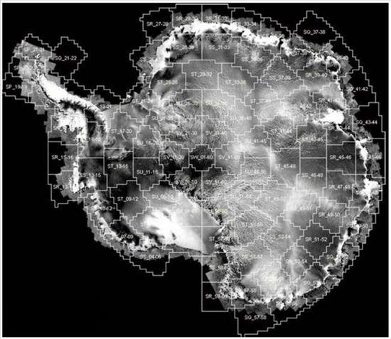 ▲1997년 캐나다 위성이 촬영한 남극대륙.[사진제공=CSA/Ohio State University/Alaska Satellite Facility]