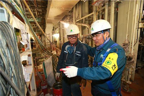 ▲현대중공업은 지난 20일 하루 동안 조업을 전면 중단하고 '안전 점검 및 안전 대토론회'를 실시했다.