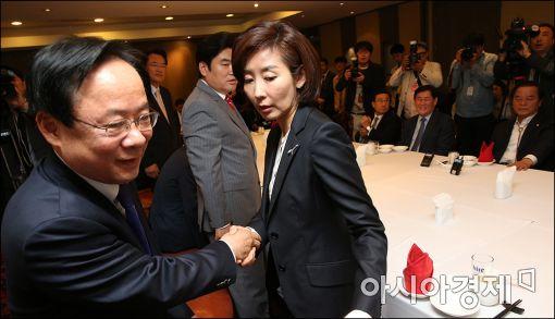 [포토]중진회동 참석한 이주영·나경원
