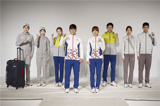 노스페이스, 올림픽 국가대표 단복 공개