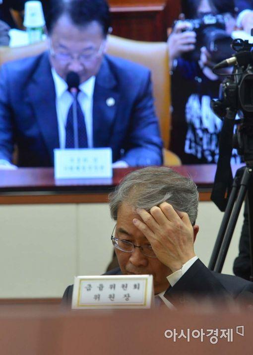 [포토]경제 침체 기로에 선 임종룡 위원장과 유일호 부총리