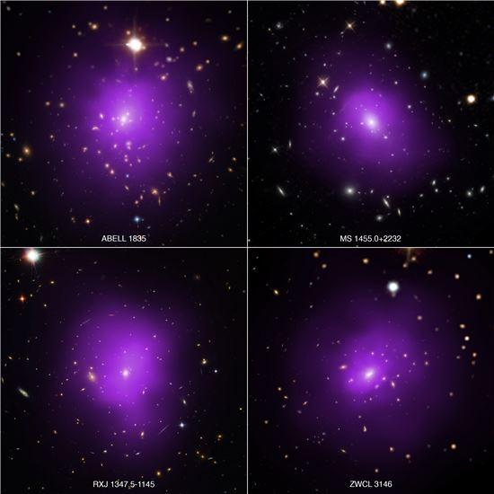 ▲'러시아 인형'을 닮은 은하단이 암흑 에너지를 풀 수 있는 실마리가 될 수 있다는 연구 결과가 나왔다. [사진제공=NASA]
