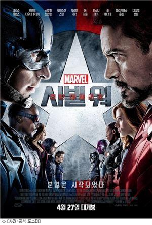 '캡틴 아메리카: 시빌워' 포스터 / 사진= 월트 디즈니 컴퍼니 코리아 제공