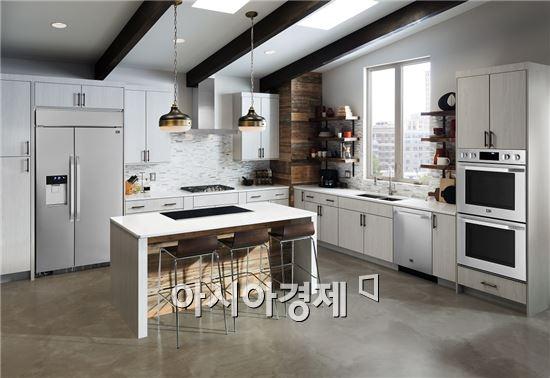 ▲: 'LG 스튜디오'를 설치한 주방의 모습.(제공=LG전자)