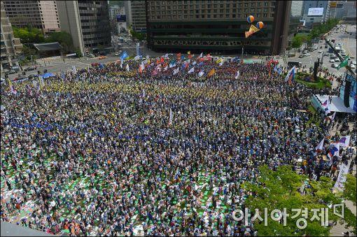 [포토]서울광장 가득 메운 노동자의날