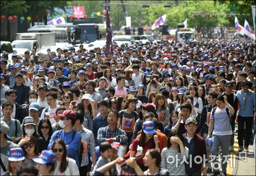 [포토]시가 행진하는 노동자들