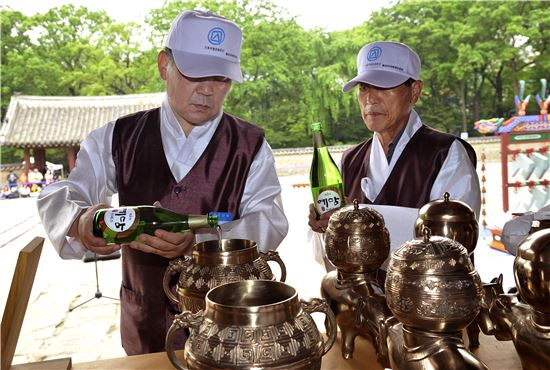 국순당 '예담', 10년째 종묘제례 전용제주로 사용