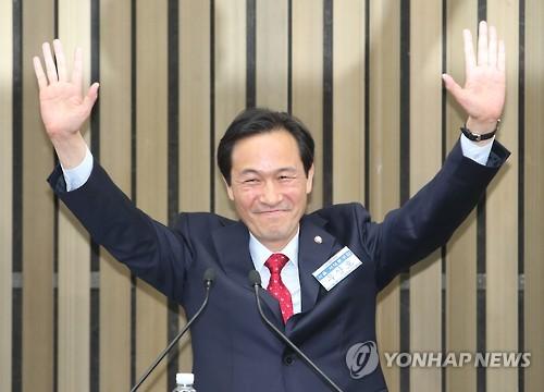 우상호 더불어민주당 신임 원내대표[사진=연합뉴스]