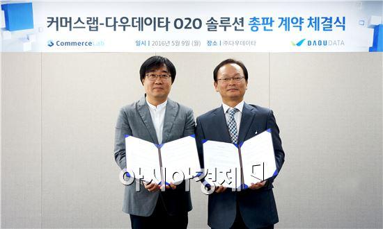 김준태 ㈜커머스랩 대표(좌), 이춘수 ㈜다우데이타 전무