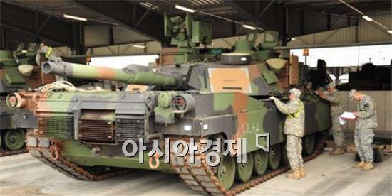 능동방어체계(APS) 탑재가 추진되고 있는 미 육군 M1A2  에이브럼스 탱크