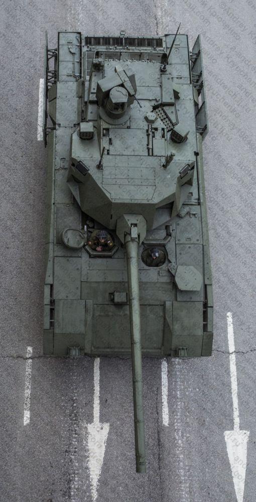 강력한 APS를 탑재한 러시아 아르마타 T-14 전차