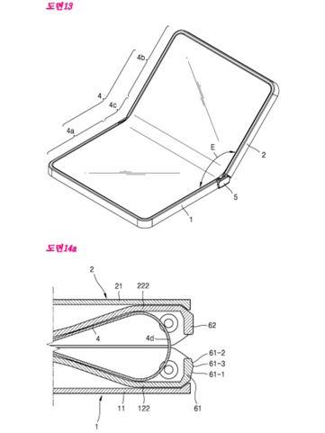 삼성전자가 출원한 플더블 스마트폰 특허(출처:한국특허청)