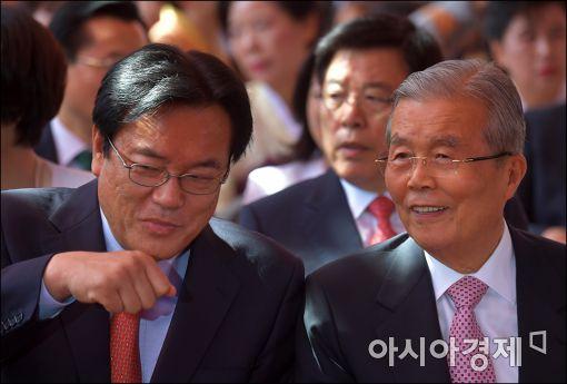 [포토]이야기하는 정진석·김종인