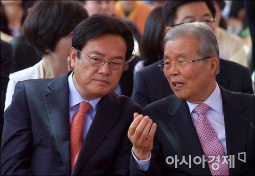[포토]이야기하는 정전석·김종인