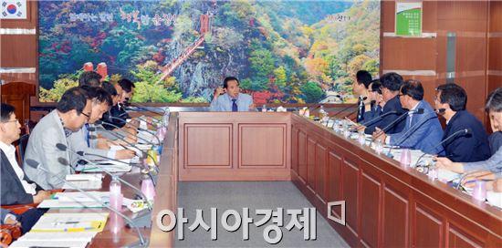 순창군은 지난 12일 황숙주 군수 주재로 국가예산확보 추진상황 보고회를 가졌다.