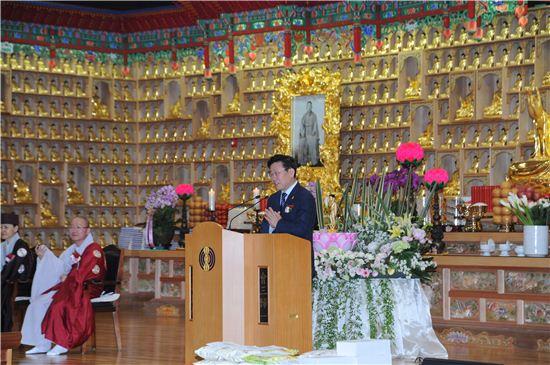 부처님오신날 봉축 법요식에 참석한 이재명 성남시장
