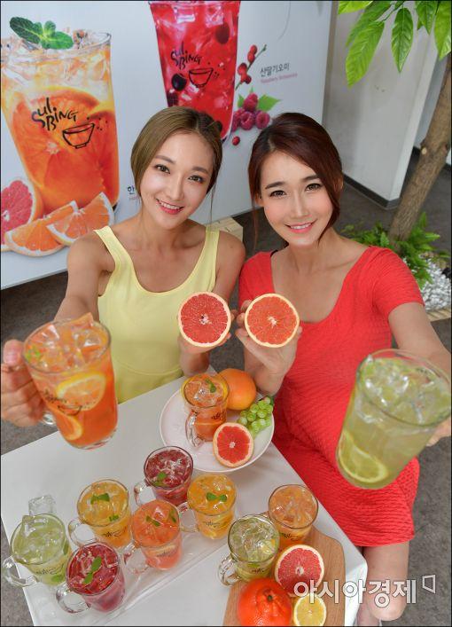 [포토]설빙, 과일음료 '열매한잔' 출시