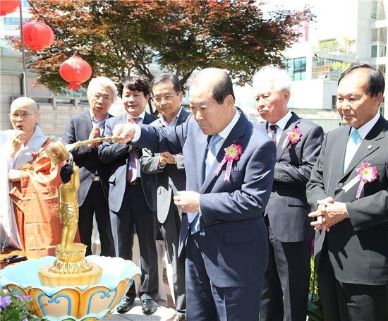 박홍섭 마포구청장 법요식 관불의식