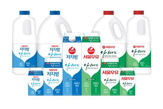 서울우유, '나100%우유' 2배 이상 확대…63%까지 적용