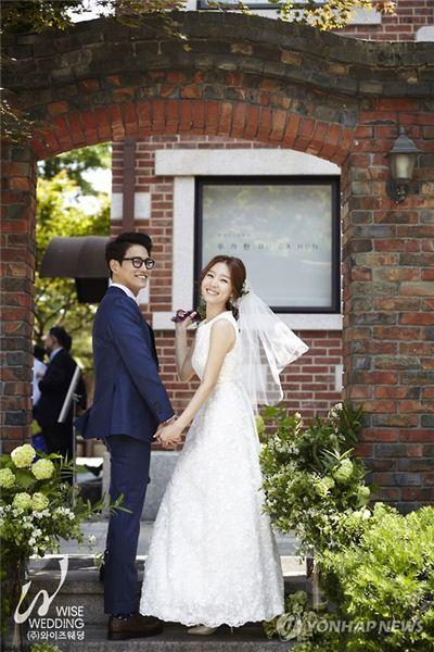 배우 신다은, 디자이너 임성빈 결혼식/사진=연합뉴스
